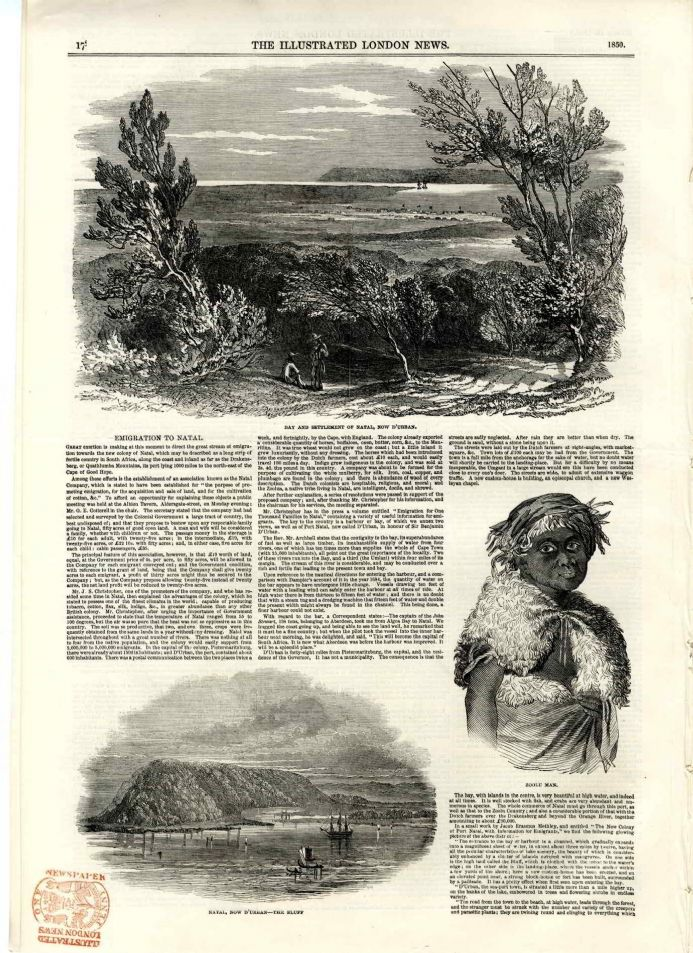 1850 ILLUSTRATED LONDON NEWS Hounslow POwder Mill Explosion NATAL South AFrica Durban (7140)
